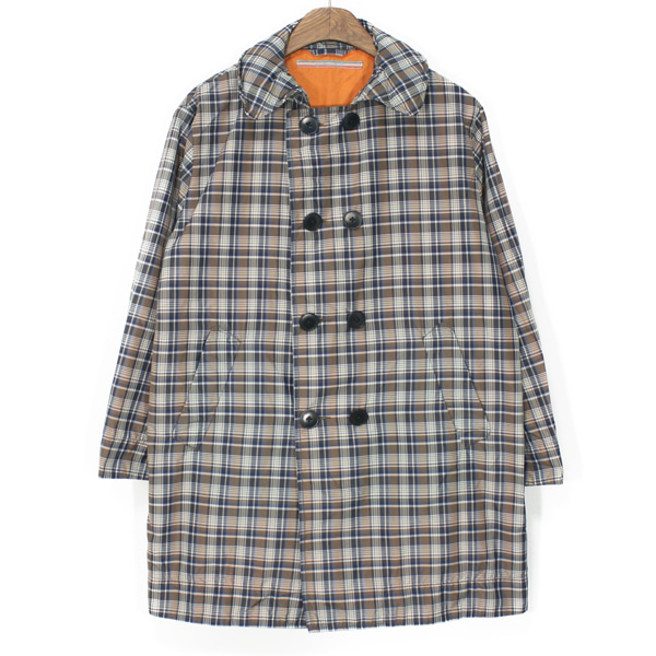 [Women] umii908 by 45RPM Nylon Check Double Coat