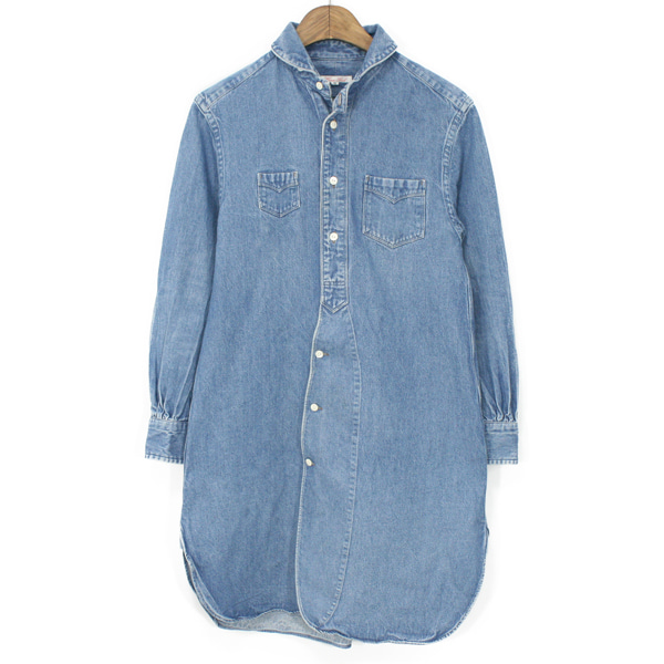 [Women] Haversack Washing Denim Long Shirts