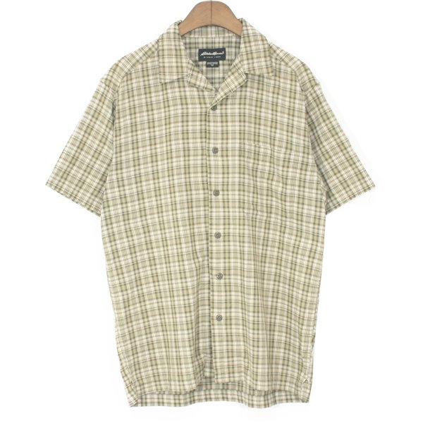 00's Eddie Bauer Open Collar Check Shirts