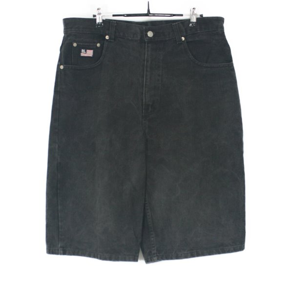 90's Polo Jeans Black Denim Shorts