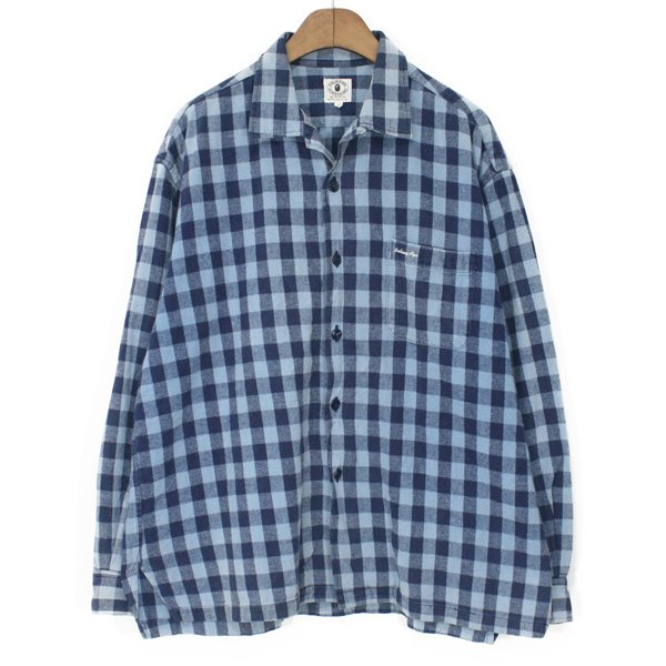90's A Bathing Ape Heavy Flannel Open Collar Shirts