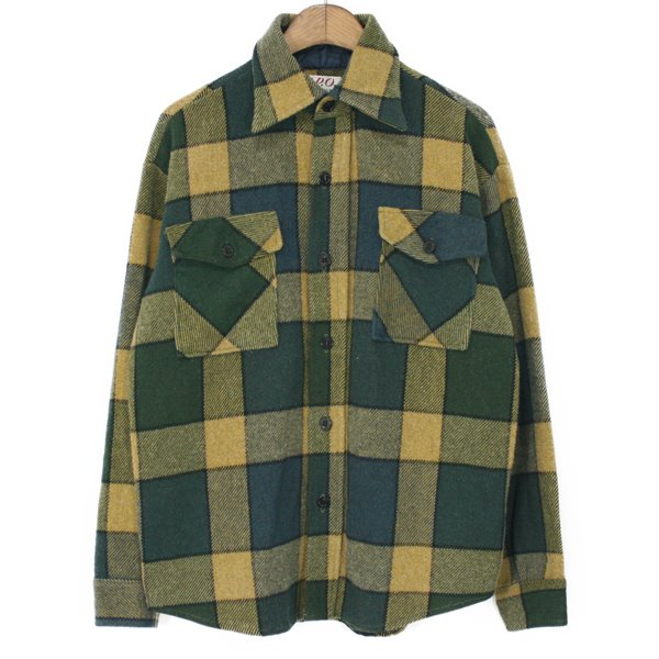 70's C.P.O. by Campus Heavy Wool Check Shirts