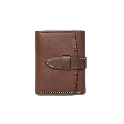 Sam's Warehouse Crafted by Raygoods 1900's Trifold Wallet [Minerva, Brown]